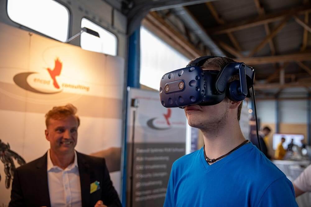 VR-Brille auf der IT.NEXT