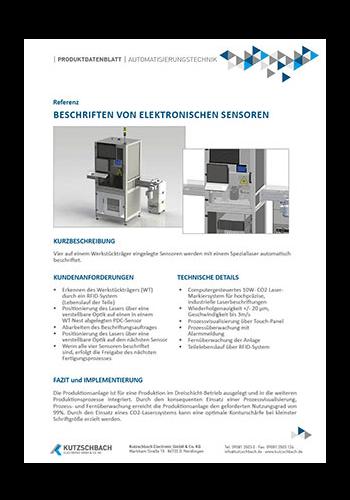 Laserbeschriftung von Sensoren