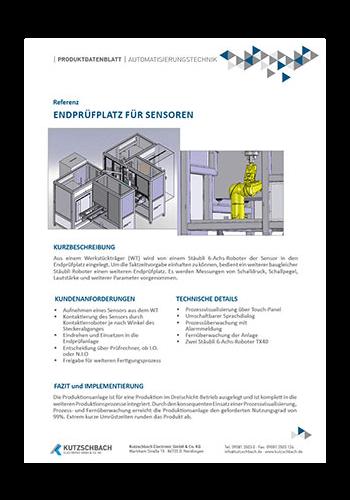 End-of-Line Tester (EOLT) für Ultraschallsensoren
