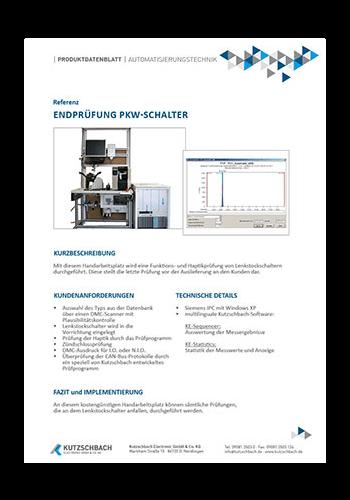 End-Of-Line Tester (EOLT) für PKW-Schalter
