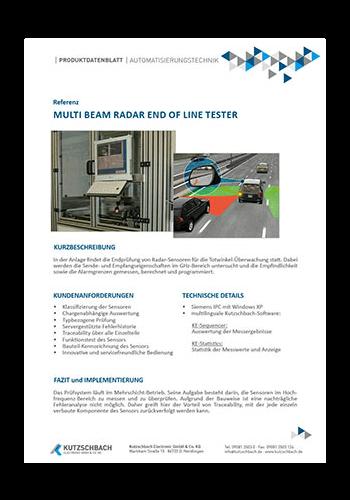 Multi Beam Rader End of Line Tester