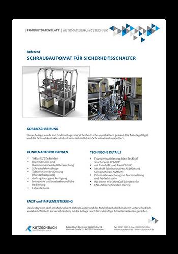 Schraubautomat für Sicherheitsschalter