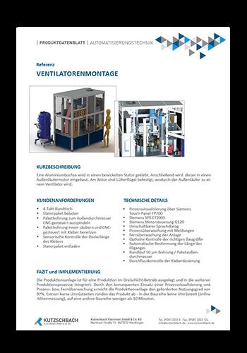 Montageanlage für Ventilatoren