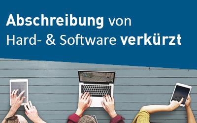 Abschreibung Hard- & Software verkürzt