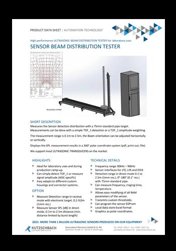 Sensor Beam Distribution Tester