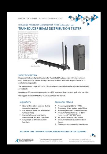 Transducer-beam-distribution-tester